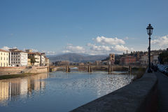 Флоренс: Alle Grazie Ponte Стоковые Изображения RF
