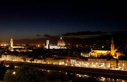 Флоренс, Firenze, Toscany, ноча Италии Стоковые Фотографии RF