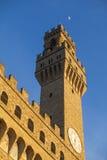Флоренс, Palazzo Vecchio, башня Arnolfo di Cambio Стоковые Изображения RF