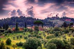 Флорентийский ландшафт Стоковое Изображение RF