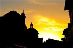 Флорентийский заход солнца Стоковое Фото