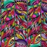 Флористическая абстрактная безшовная предпосылка картины также вектор иллюстрации притяжки corel Стоковое Изображение