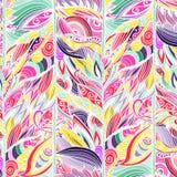 Флористическая абстрактная безшовная предпосылка картины также вектор иллюстрации притяжки corel Стоковая Фотография RF