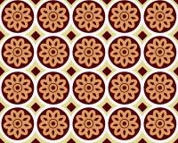 Флористическая абстрактная безшовная предпосылка лотоса Стоковое Изображение RF