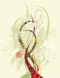Флористическая абстрактная конструкция Стоковые Фото