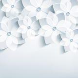Флористическая абстрактная предпосылка, 3d стилизованные цветки sa Стоковое Изображение