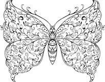 Флористическая бабочка Бесплатная Иллюстрация