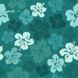 Флористическая безшовная картина гибискуса Стоковое Изображение RF