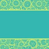 Флористическая безшовная картина. Иллюстрация вектора. Стоковое Изображение