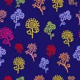 Флористическая безшовная картина - иллюстрация Стоковая Фотография RF
