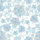 Флористическая безшовная картина предпосылки для непрерывного Стоковое Изображение RF