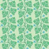 Флористическая безшовная картина с зеленым декоративным leav Стоковое Фото