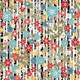 Флористическая безшовная картина с красочной текстурой цветков Стоковые Фотографии RF