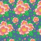 Флористическая безшовная картина с плодами шиповника цветков Стоковое Изображение RF