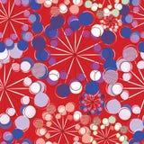 Флористическая безшовная картина с стилизованными одуванчиками Стоковые Изображения RF