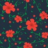Флористическая безшовная картина для ткани, производства, обоев и печати Стоковые Фотографии RF