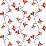 Флористическая безшовная картина Стоковые Изображения RF