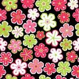 Флористическая безшовная картина. иллюстрация штока