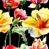 Флористическая безшовная картина Стоковые Изображения
