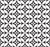 Флористическая безшовная предпосылка. Абстрактная белая и черная флористическая геометрическая безшовная текстура Стоковое фото RF
