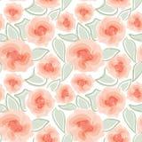 Флористическая безшовная предпосылка. нежная картина цветка. Стоковое Изображение RF