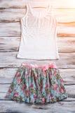 Флористическая верхняя часть юбки и танка Стоковые Изображения