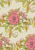 Флористическая винтажная безшовная картина иллюстрация вектора