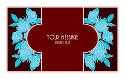 Флористическая винтажная карточка Стоковое Изображение