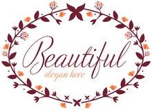 Флористическая граница цветка Стоковая Фотография