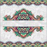 Флористическая декоративная карточка приглашения, винтажное Пейсли Стоковые Фотографии RF
