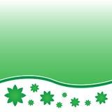 Флористическая зеленая предпосылка Иллюстрация вектора