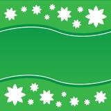 Флористическая зеленая предпосылка Иллюстрация штока