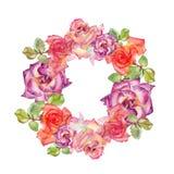 Флористическая иллюстрация венка Стоковые Изображения