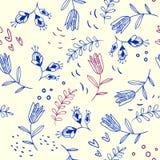 флористическая картина безшовная Стоковые Фотографии RF
