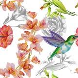 флористическая картина безшовная иллюстрация штока