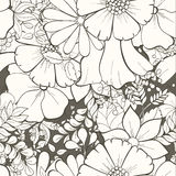 флористическая картина безшовная иллюстрация вектора