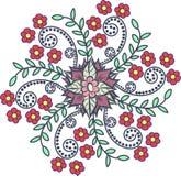флористическая картина круглая Стоковые Фотографии RF