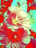 Флористическая картина маслом Стоковое фото RF