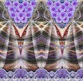 Флористическая картина на безшовной ткани вектор изображения цветка букета яркий Ткань Стоковое фото RF