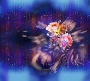 Флористическая картина на безшовной ткани вектор изображения цветка букета яркий Ткань Стоковая Фотография