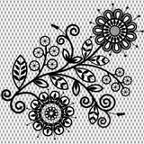 Флористическая картина шнурка Стоковые Изображения RF