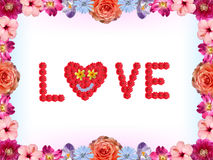 Флористическая карточка валентинок - влюбленность иллюстрация вектора