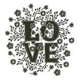 Флористическая карточка влюбленности Стоковые Фото