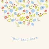 Флористическая карточка Стоковое фото RF