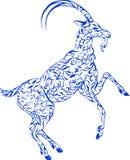 Флористическая коза Бесплатная Иллюстрация