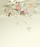 Флористическая конструкция Стоковое Изображение
