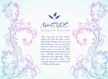 Флористическая концепция предпосылки природы иллюстрация Стоковое Фото