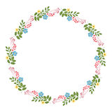 Флористическая концепция рамки круга Стоковое фото RF