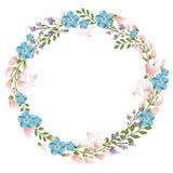 Флористическая концепция рамки круга Стоковая Фотография