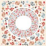 Флористическая круглая рамка Стоковые Изображения RF